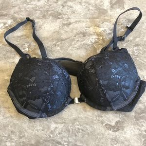 LA SENZA Beyond Sexy Navy/Black Lace Push Up Bra